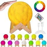 OVAREO Fußball Lampe,LED Fußball Lampe, Fußball Nachtlicht,Farbige Dekoleuchte 16 Lichtfarben...