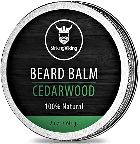 Cedarwood Beard Balm Styles Strengthens Softens Beards and Mustaches 100 Natural Beard Conditioner product image