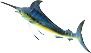 Gresorth 6 inch 3D Fake Plastic Sailfish Model Dispaly Artificial Marine Animals Decoration Early Education Props