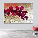 SQSHBBC Carteles de Pared de Flores de Lona de Gran tamaño Impresiones Imagen...