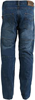 Mens Motorcycle Jeans In Blue Washed Denim made with DuPont™ Kevlar® Reinforced