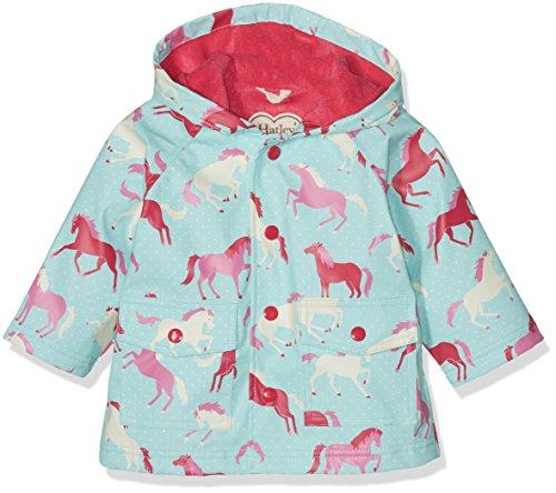 Hatley Printed Raincoat Manteau, Bleu (Ponies and Polka Dots 450), 12 Mois Bébé Fille