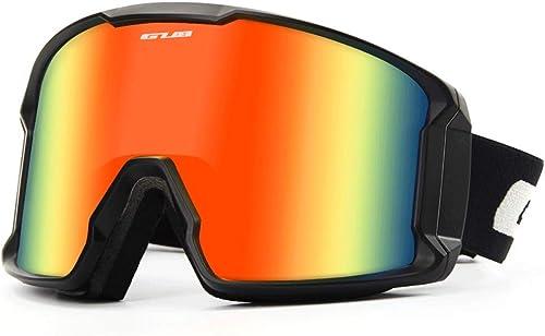 RXF Double Lunettes Adultes de Ski Anti-buée Les Lunettes extérieures de Vent d'hommes de Femmes