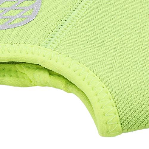 zwyjd Knöchelstützorthese Sportfußschutz Atmungsaktive elastische Socken zum Laufen Basketball Volleyball Kompression Knöchelorthese Schutz,Leuchtendes Grün