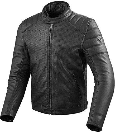 REV'IT! Motorradjacke mit Protektoren Motorrad Jacke Stewart Air Lederjacke schwarz 58, Herren, Tourer, Ganzjährig