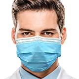 Disposable Face Masks, 3-Layer Breathable Safety Masks with Meltblown Cloth for Kids Men Women Adult Outdoor - 50 pcs