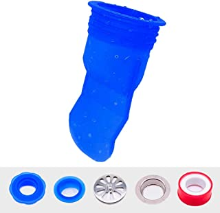 LAMONDE Shower Floor Drain Backflow Preventer, Waterless Trap Seal, One Way Drain Valve Sewer Core (1.72-2 inch, Blue)
