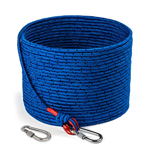 Loreso Strong Magnet Fishing Rope with Double Carabiner