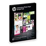 HP Celebrations Photo Paper Sample Pack   (5x7, 8.5x11, envelopes) 12 sheets DISCONTINUED BY MANUFACTURER