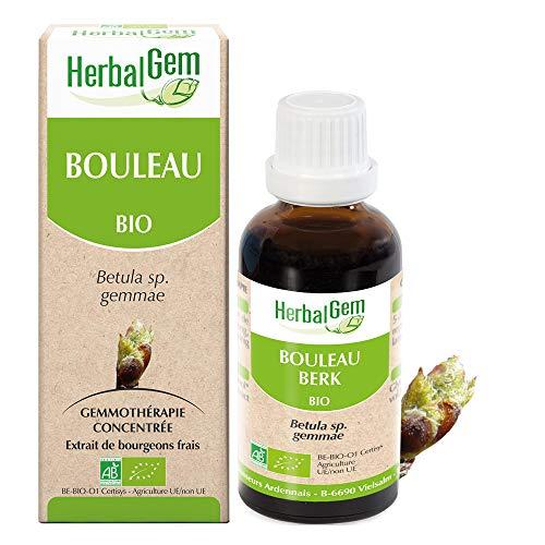 HerbalGem - Bouleau Bio - Macérats-Mères de Gemmothérapie Concentrée - 30 ml