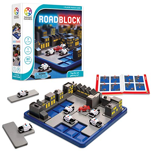 Product Image of the SmartGames RoadBlock Cognitive Skill-Building Puzzle Game featuring 80...