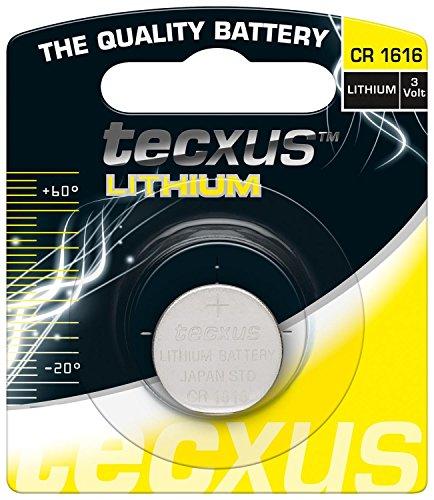 Tecxus–Lotto di 5Blister da 1pila a bottone Litio CR16163V 55mAh