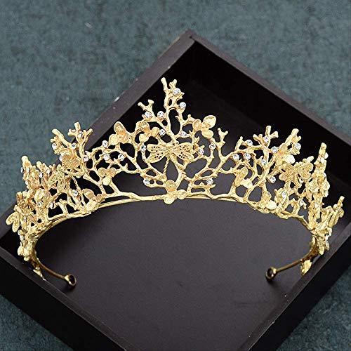 Adorno del pelo de la novia, aleación rama corona vestido de novia...