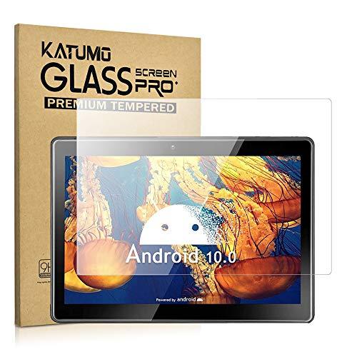 [2 Pezzi] KATUMO Vetro Temperato per Universale Tablet 10 Pollici Premium Pellicola Vetro Temperato (9-10.1 Pollici) Pellicola Protettiva [9.9' x 5.6']