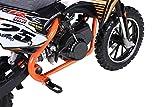Actionbikes Motors Mini Kinder Crossbike Gepard 49 cc - Scheibenbremsen - Sportluftfilter - Sportauspuff - Luftbereifung (Orange) - 8