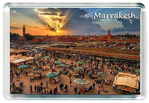 DreamGirl I306 Marrakesh Jumbo Imán para Nevera Marruecos - Morocco Travel Fridge Magnet