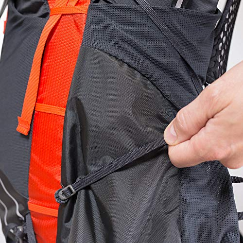 Osprey Exos 48 Men's Backpacking Backpack, Blaze Black, Medium