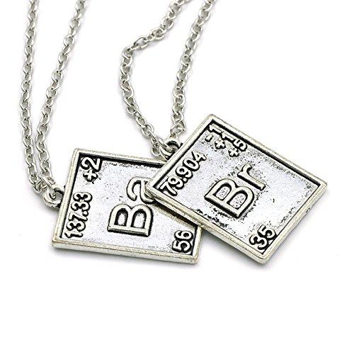 KeySmart Halskette mit Br, Ba Elemente Anhängern aus dem Periodensystem