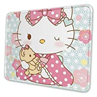 Hello Kitty ハローキティ マウスパッド レーザー&光学マウス対応 ゲーミングア ルミマウスパッド 21*26cm マウス パッド ゲームおよびオフィス用/防水/洗える/滑り止め 小さめ