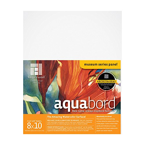 Ampersand Aquabord, for Watercolors, Gouache and Acrylics, 1/8 Inch 8X10