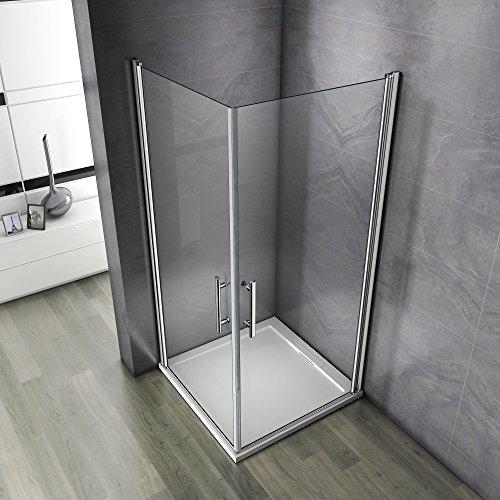 Porte de douche 70x70x195cm Porte pivotante porte de douche paroi de douche cabine de douche verre anticalcaire