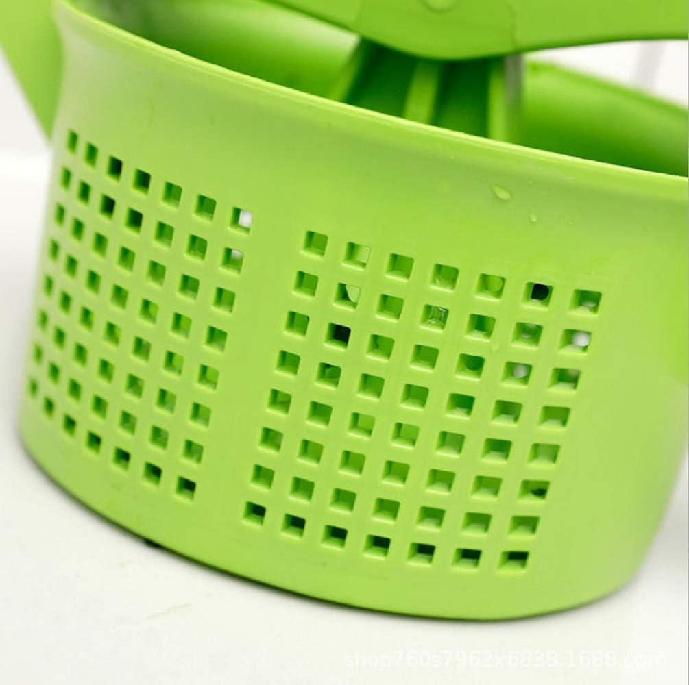 HHKX100822 Exprimidor De Verduras, Deshidratador De Relleno De Verduras, Escurridor Manual, Exprimidor Manual, Utensilios De Cocina (Verde) Verde