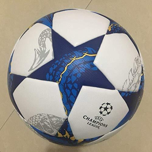 SIZHINIAN Tamaño de fútbol de la PU Suave Toque del balón de fútbol de la Bola General de Formación Europa Torneo de Ball-La Liga Premier Liga 5, Azul