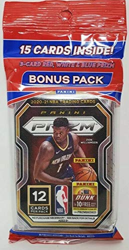 2020-21 Panini Prizm NBA Basketball 15-Card Cello Pack