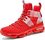 Zapatillas Unisex Niños Zapatos de Baloncesto Casual Zapatos Correr Sneakers para Hombre, 8 Rojo, 31 EU