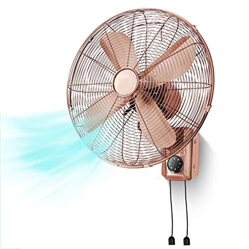 HLILY Ventilatore da Parete da 16 Pollici,Ventilatore Silenzioso A Risparmio Energetico con Telecomando/Timer/3 velocità,ventole Industriale in Metallo 45 Cm,per Casa/Ufficio,Silenzioso