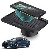 BUSUANZI Cargador inalámbrico para automóvil para BMW 3 Series M3 2016-2018 4 Series M4 2018-2020 Panel de Accesorios de Consola Central Carga rápida de 10W para iPhone Samsung Huawei