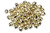 I-MART 100 Pcs Small Christmas Jingle Bells, 1 Inch Bell for DIY Crafts (Gold)