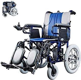 SISHUINIANHUA Silla de Ruedas eléctrica Plegable Chai Rueda Auxilios portátil Plegable Silla eléctrica de alimentación Compacto Movilidad sillas de Ruedas eléctricas