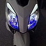 YZLP Lámpara 1 UNID H4 LED Faro de la Motocicleta Bombillas H6 BA20D HS1 LED Lámpara de Cabeza Lámpara de la Cabeza Accesorios de Scooter Luz de Niebla con Ojo de ángel