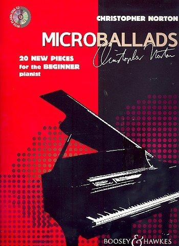 Christopher Norton: Microballads (+CD) para piano con lápiz – 20 piezas de piano modernas y sensibles, de ligero a mediano (música/partitura)