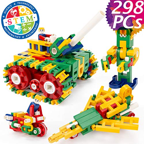 cossy STEM Learning Toy with Big Blocks, Engineering...