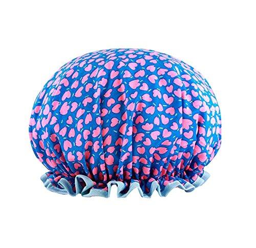 Capuchon de bain créatif Double capuchon de douche étanche, bleu