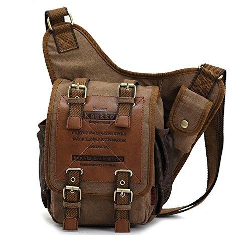 Innturt Tactical Oxford Sling Chest Bag Molle Messenger Assault Shoulder Bag Backpack (C-Coffee)