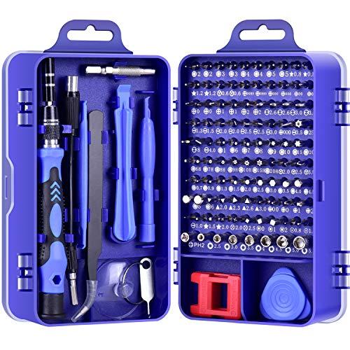 DAZAKA Feinmechaniker Schraubendreher Set, 115-teilig Feinmechaniker Werkzeug Set, Torx Schraubendreher Set für Reparatur iPhone, Laptop, Tablet, Uhren, Kamera