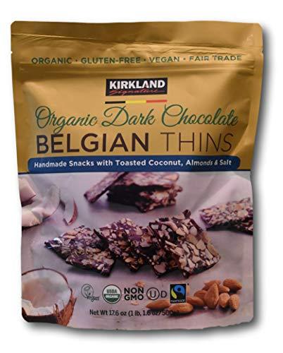 Kirkland Organic Dark Chocolate BELGIAN THINS 17.6 oz