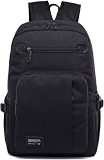 CHENDX Handbags Men and Women Casual Fashion Large Capacity Travel Backpack Business Computer Bag Zipper Briefcase (Color : Black, Size : 47cm*29cm*15cm)