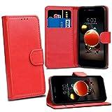 LG K8 2018 LG K9 Cases - Red Premium Wallet Leather Flip