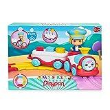 Pinypon - My First, Tren Divertido, primer tren de juguete con vías para circular y la figura del maquinista, ruedas y panel con huecos para encajar formas geométricas de colores, FAMOSA (700016720)