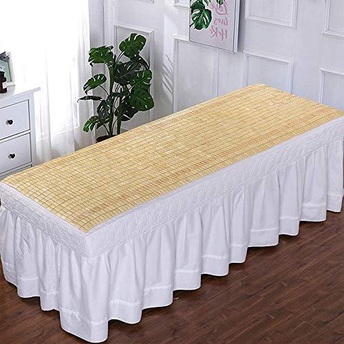 Equipo diario Colchoneta de bambú de verano para cama individual Cama de belleza Colchoneta de ratán de bambú Colchoneta de verano portátil para dormir para el hogar Escuela Hotel Ahorre espacio Ca