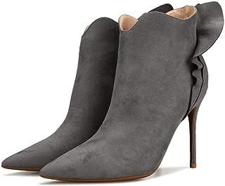 beb6a3384ee mogeek Botines Mujer Tacon Alto Puntiagudo Botas Comodos Fiesta Zapatos de  Tacón de Aguja Alto 10