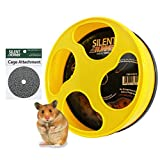Exotic Nutrition Silent Runner 9' - Pet Exercise Wheel + Cage Attachment (no Stand) - for Hamsters, Gerbils, Mice