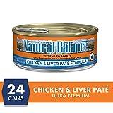 Natural Balance Ultra Premium Wet Cat Food, Chicken & Liver Paté Formula, 5.5 Ounce Can (Pack of 24)