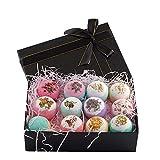 12 Serie pétalo colorido fuerte Bañera bola Juego de regalo de baño de burbujas bola de la burbuja del Día de la Madre Día de la bomba Sales de baño Set de cumpleaños de San Valentín Aniversario mejor