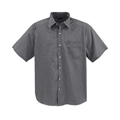 Lavecchia  Herren Kurz Arm Hemd, 7XL, Schwarz-weiß