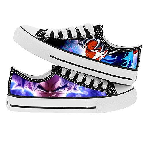 XYUANG Dragon Ball Super Son Goku/Torankusu Canvas Shoes Unisex 3D Anime Printing Schuhe Klassische Freizeit Leinwand Flache Männer und Frauen Sneaker D-35
